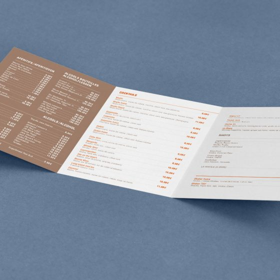 menu carte boissons La Place