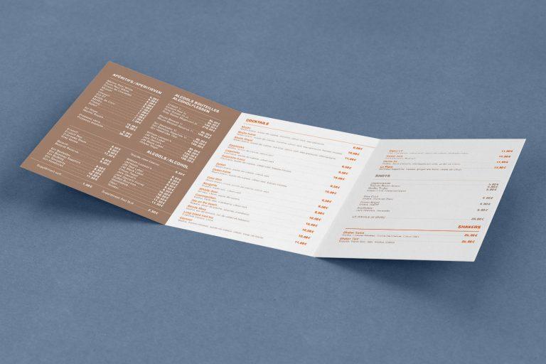 menu carte boissons La Place