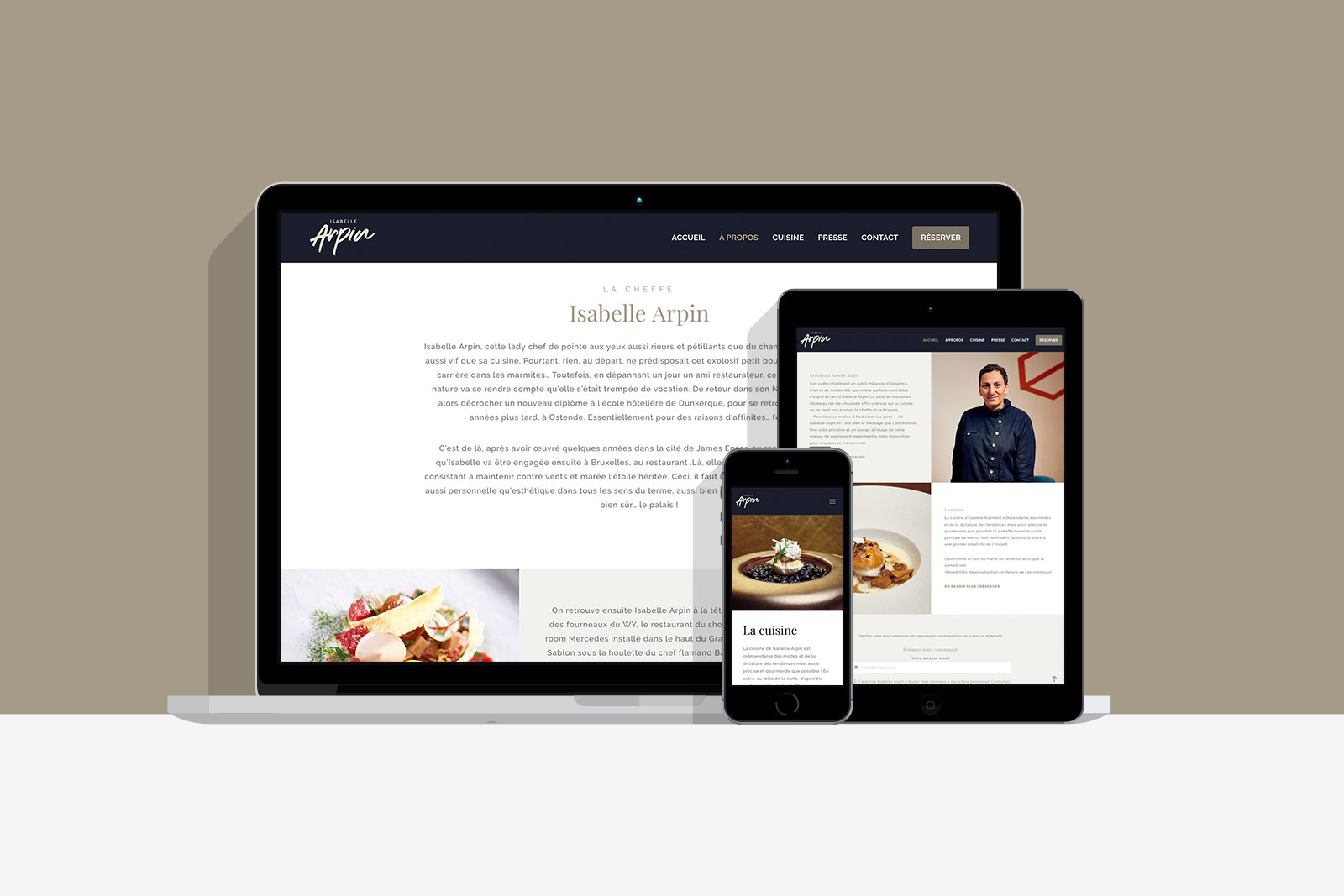 site web Isabelle Arpin
